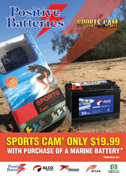 Sports Cam only $19.99 with purchase of a Boat battery, while stocks last
