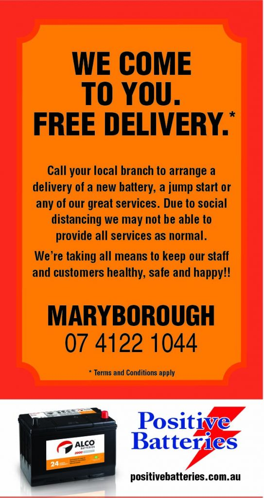 Positive Batteries Free Delivery